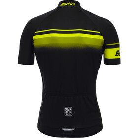 Santini Mare Jersey Heren, black/yellow fluo